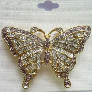 34178-Cute-Rhinestone-Butterfly-Jewelry-Brooch-Pin-Gold-Plated-Jewellery-Custom-Orders-1