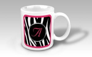 Chic-Zebra-Print-Berry-Pink-Monogram-Mug